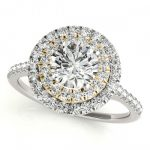 1.5 ctw Certified VS/SI Diamond Solitaire Halo Ring 18K