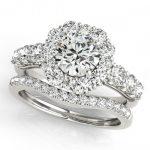 3.16 ctw Certified VS/SI Diamond 2pc Wedding Set Halo 14K