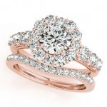 3.16 ctw Certified VS/SI Diamond 2pc Wedding Set Halo 14K