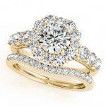 2.51 ctw Certified VS/SI Diamond 2pc Wedding Set Halo 14K