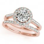 1.81 ctw Certified VS/SI Diamond 2pc Wedding Set Halo 14K