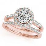 2.31 ctw Certified VS/SI Diamond 2pc Wedding Set Halo 14K