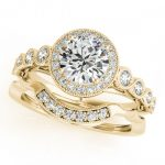 1.15 ctw Certified VS/SI Diamond 2pc Wedding Set Halo 14K