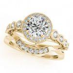 2.03 ctw Certified VS/SI Diamond 2pc Wedding Set Halo 14K