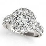 1.52 ctw Certified VS/SI Diamond Halo Ring 14K White
