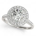 1.25 ctw Certified VS/SI Diamond Halo Ring 14K White
