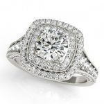 1.65 ctw Certified VS/SI Diamond Halo Ring 18K White