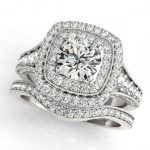2.28 ctw Certified VS/SI Diamond 2pc Wedding Set Halo 14K