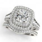 1.93 ctw Certified VS/SI Diamond 2pc Wedding Set Halo 14K