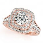 1.65 ctw Certified VS/SI Diamond Solitaire Halo Ring 14K