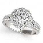 2.01 ctw Certified VS/SI Diamond Halo Ring 14K White