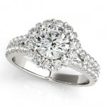 1.76 ctw Certified VS/SI Diamond Halo Ring 14K White