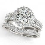 2.83 ctw Certified VS/SI Diamond 2pc Wedding Set Halo 14K