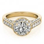 1.5 ctw Certified VS/SI Diamond Halo Ring 18K Yellow
