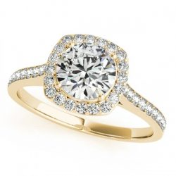 0.85 ctw Certified VS/SI Diamond Solitaire Halo Ring 14K