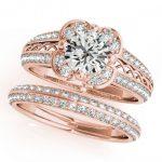 2.41 ctw Certified VS/SI Diamond 2pc Wedding Set Halo 14K