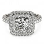 1.8 ctw Certified VS/SI Diamond Solitaire Halo Ring 14K
