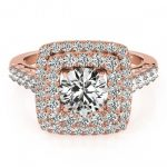 2.05 ctw Certified VS/SI Diamond Halo Ring 18K Rose Gold