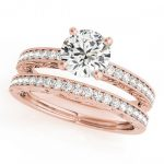 1.16 ctw Certified VS/SI Diamond 2pc Wedding Set Antique
