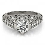 1.25 ctw Certified VS/SI Diamond Antique Ring 18K White