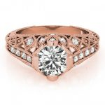 1.25 ctw Certified VS/SI Diamond Antique Ring 14K Rose