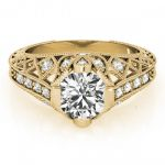 1.25 ctw Certified VS/SI Diamond Antique Ring 18K Yellow
