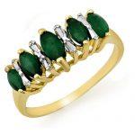 0.70 ctw Emerald Ring 10K Yellow