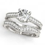 1.74 ctw Certified VS/SI Diamond 2pc Wedding Set Antique