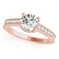 1.75 ctw Certified VS/SI Diamond Antique Ring 14K Rose