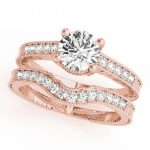0.45 ctw Certified VS/SI Diamond 2pc Wedding Set Antique