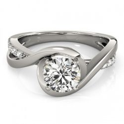 0.65 ctw Certified VS/SI Diamond Solitaire Ring 14K Gold