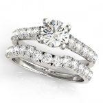 1.97 ctw Certified VS/SI Diamond 2pc Set Wedding  14K