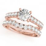 1.39 ctw Certified VS/SI Diamond 2pc Set Wedding  14K