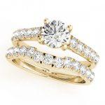 1.39 ctw Certified VS/SI Diamond 2pc Set Wedding  14K
