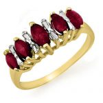 0.88 ctw Ruby Ring 10K Yellow