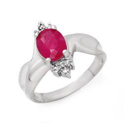 1.83 ctw Ruby & Diamond Ring 18K White