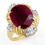 6.70 ctw Ruby & Diamond Ring 10K Yellow