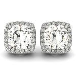 1.35 ctw Diamond VS/SI Certified Halo Cushion Cut 14K