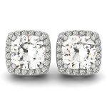 1 ctw Diamond VS/SI Certified Halo Cushion Cut 14K