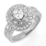 1.33 ctw Certified VS/SI Diamond Ring 14K White