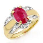 3.01 ctw Ruby & Diamond Ring 14K Yellow