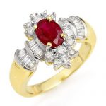 1.78 ctw Ruby & Diamond Ring 14K Yellow