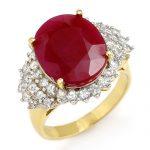 8.32 ctw Ruby & Diamond Ring 14K Yellow