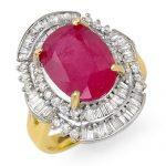 5.75 ctw Ruby & Diamond Ring 14K Yellow