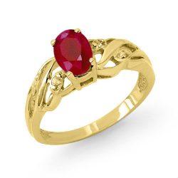 1.02 ctw Ruby & Diamond Ring 10K Yellow