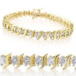 3.0 ctw Certified VS/SI Diamond Bracelet 10K Yellow