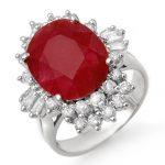 6.30 ctw Ruby & Diamond Ring 18K White