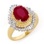 3.24 ctw Ruby & Diamond Ring 14K Yellow