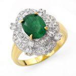 3.31 ctw Emerald & Diamond Ring 14K Yellow