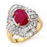 4.58 ctw Ruby & Diamond Ring 14K Yellow